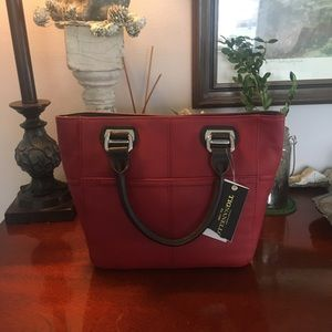 Tignanello red mini tote